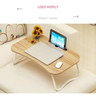 Portable Notebook Computer Wooden Foldable Multi-propose Table