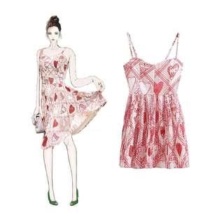 DP536 Elyne Love Pleated Mini Dress