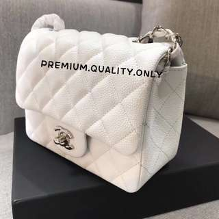 Chanel Mini Square - white
