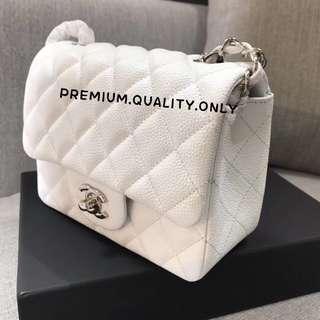 Chanel Mini Square - white
