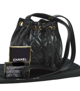 Chanel bucket shoulder bag