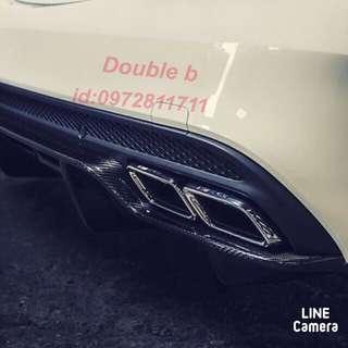 Double b BENZ W205 正 C63 PSM 抽真空 碳纖維 卡夢 後下巴 完美品質A級品 密合度超優