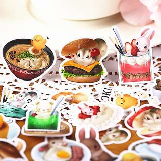 🚚 Kawaii Food & Animals Scrapbook / Planner Stickers #167