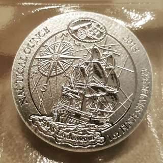 2018 Rwanda Nautical HMS Endeavour 1 oz silver coin