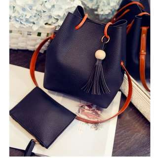 2 in 1 Korean Stylish Handbag Tote Sling Bag