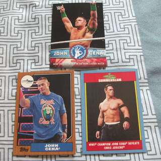 John Cena 2017 Topps WWE Heritage trading cards for sale (Lot of 3 cards)