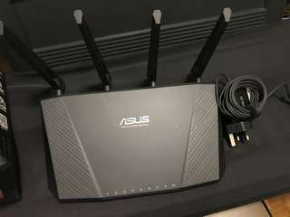 Asus wireless gigabit router RT-AC87U - dual band.