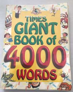 Times Giant Book of 4000 words (Children Dictionary)