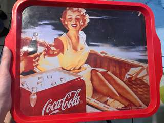 Vintage Coca Cola red serving tray or decor