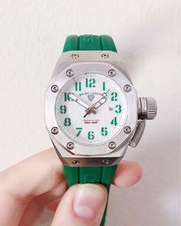 Swiss Legend Trimix Diver Green Mother of Pearl Dial Watch