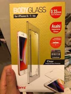 Iphone7,8 日本原裝行貨0.33mm至強9H熒幕玻璃保護貼