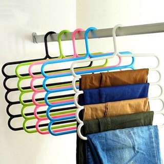 5 Layer Multipurpose Plastic Clothes Towel Belt Hanger