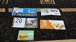Various vouchers