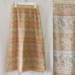 Elephant boho skirt