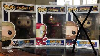 Thor and Ironman IW Funko Pop