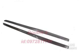 Double b BENZ W205 C63 C200 C250 C300 PSM 抽真空 卡夢 碳纖維 側裙 密合度超優
