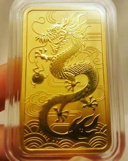 1 oz Perth Mint Dragon Gold Bar
