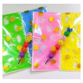 Party Favors/Children's Day - Stencil & Colouring Pencil Pack