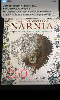 The Chronicles of Narnia Official Colouring Book (Sealed)