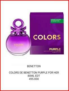 COLORS DE BENETTON PURPLE FOR HER