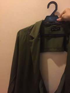 Olive green fashion outerwear