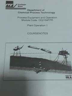 Chemical process technology course note