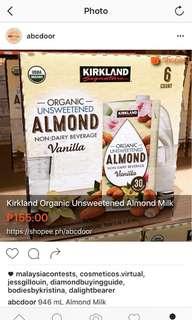Kirkland Organic Almond Milk