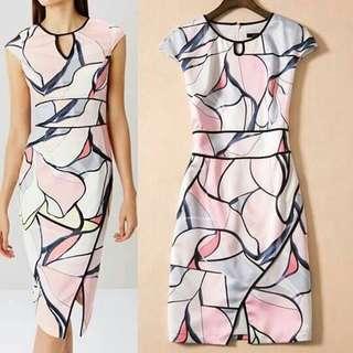 🐋Bodycon printed  dress