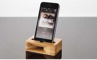 木製手機擴音器 美觀 自然 iphone