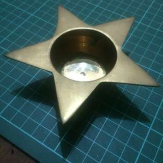 Vintage Candle Holder Tembaga Antik