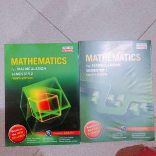 Mathematics for matriculation
