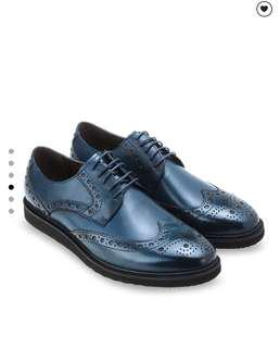 Derby perforated leather shoes for Dress and Business Everyday wear  Size 39 - 45 (Eu)