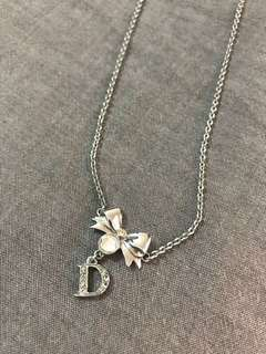 DIOR Bow Pendant Necklace