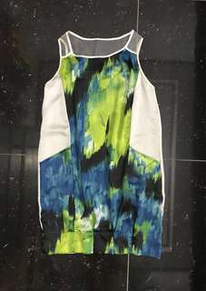 Plains and Prints sheer sl dress
