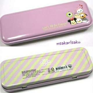 Tsum Tsum 鐵筆盒 (粉紫色)