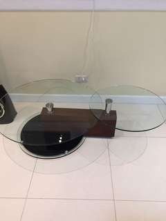 Wood Glass Center Table