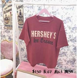 Hershey紅tee T恤