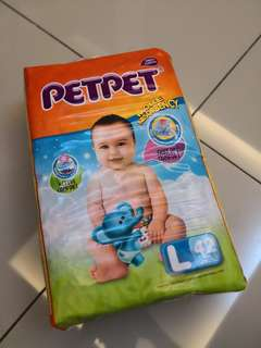 Petpet tape diapers L (42pcs) x 3