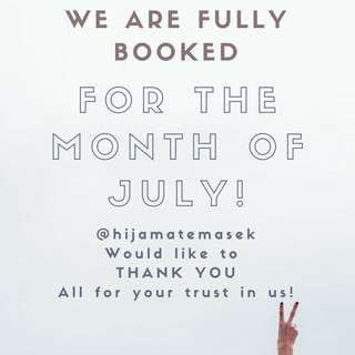 FULLY BOOKED!