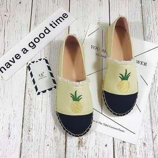 🚚 全新轉賣 鳳梨草編休閒鞋 懶人鞋