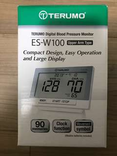 TERUMO Digital Blood Pressure Monitor - MADE IN JAPAN - ES-W100 - Brand New