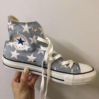 Converse All Star star pattern 70's 星星高筒綁帶帆布鞋 4.4/37.5 size
