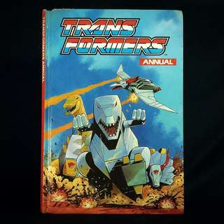 TRANSFORMERS Hardcover Annual UK G1 (Marvel, 1991)