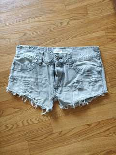 Grey Denim shorts