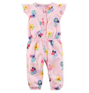 🚚 *6M* Brand New Carter's Floral Jumpsuit For Baby Girl