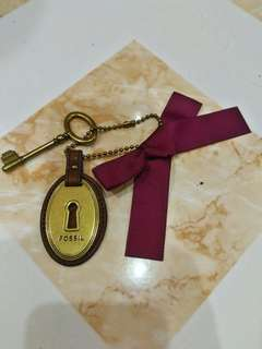 Authentic Fossil keychain