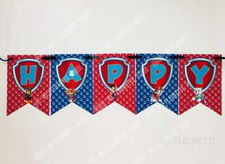 DIY Party - Customised Paw Patrol Flag Banner