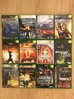 Xbox (original) and xbox360 games (bundle)