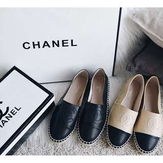 Chanel Espadrilles En Cuir Leather