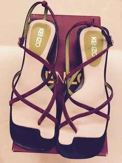 🚚 Kenzo法國製低跟真皮綁帶鞋